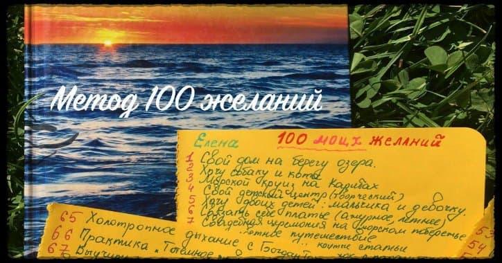 Метод на практиці «Список 100 бажань». Блокнот і художній альбом.