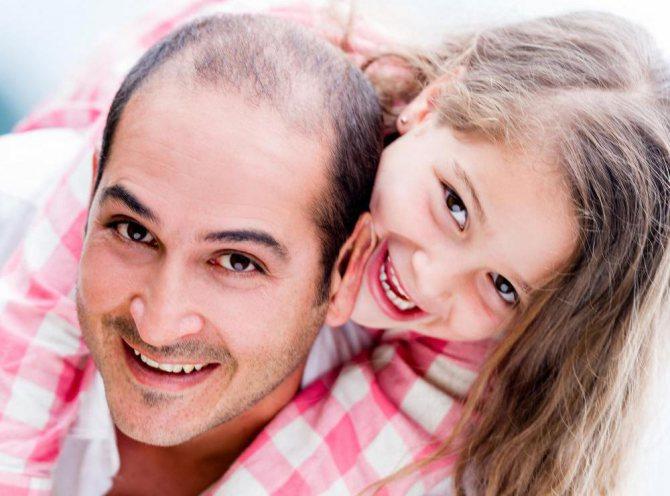 папа з донькою