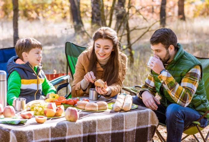 Сім'я на пікніку