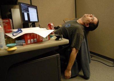 втомлений працівник
