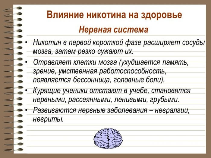 Вплив на нервову систему